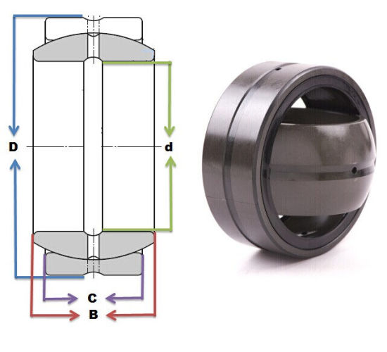 Radial Spherical Plain Bearing Geg20es Geg20es-2RS Geg30es Geg30es-2RS